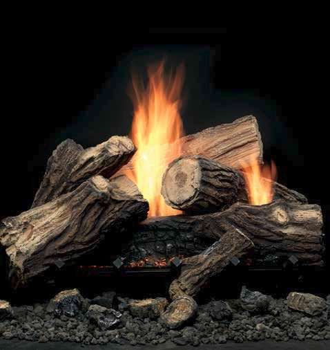 Mojo Vent Free Gas Log Sets by Monessen Hearth. Our designer log set offers up to 38,000 BTUs, instant dancing yellow flames, flickering embers and standard grate and irons for an incredibly realistic look.
