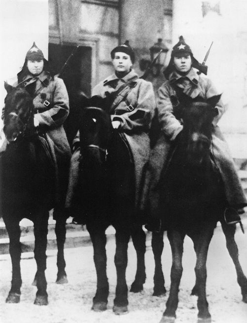 Red Army fighters, 1920s.