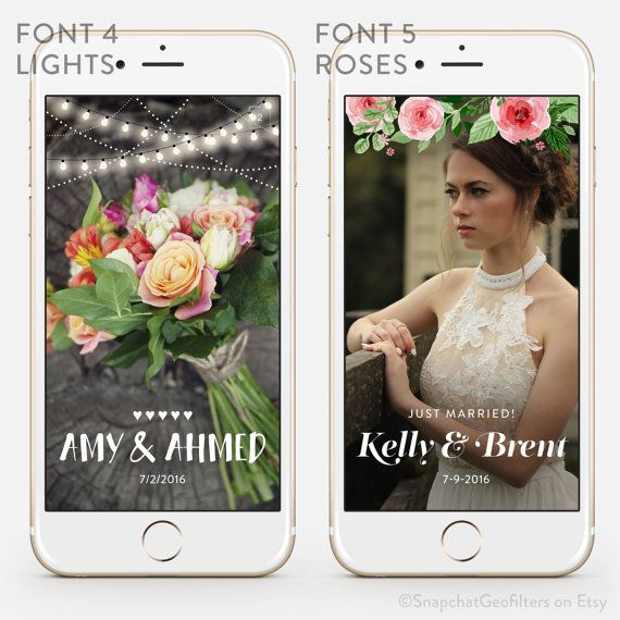 how to create a snapchat filter for wedding