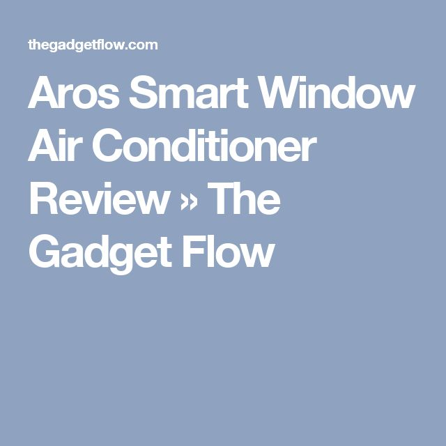 Aros Smart Window Air Conditioner Review » The Gadget Flow