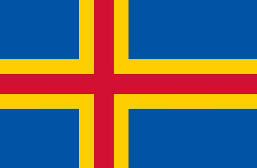 The flag of Åland refers to the geographical and political position of the Finnish islands of Åland. It is the Swedish flag defaced by a red cross symbolising Finland. The flag has been the official flag of the autonomous Finnish province of Åland since 1954. It was first hoisted in the capital Mariehamn on 3 April 1954.[citation needed]  Prior to autonomy, an unofficial horizontal bicolour triband of blue-yellow-blue was in use. The flag was made illegal in 1935.