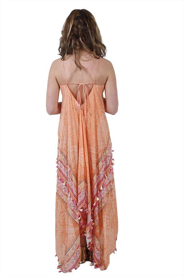 Paradise Found Peach Maxi Dress