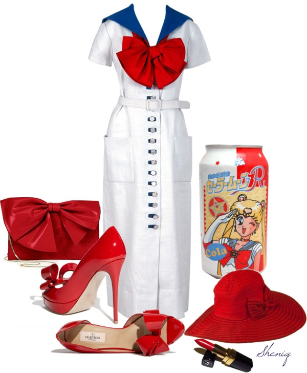"""""""Sailor Moon Cola by Sheniq"""" by sheniq ❤ liked on Polyvore"""