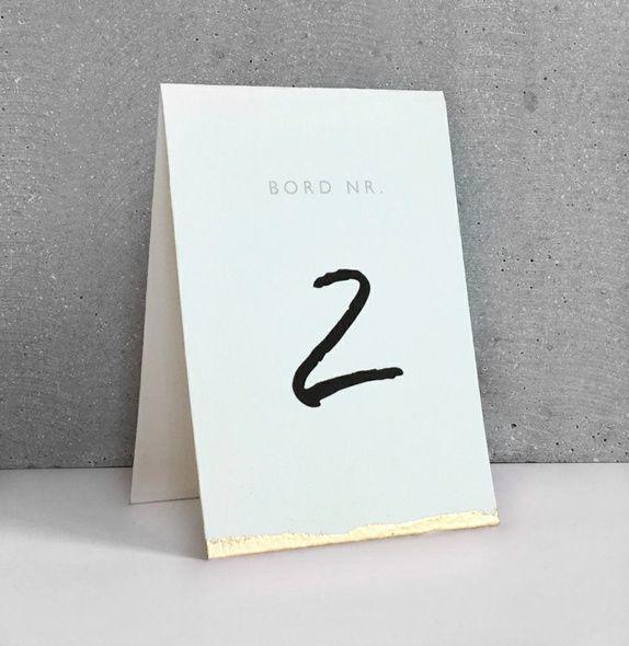 Bordnummerkort- bryllup