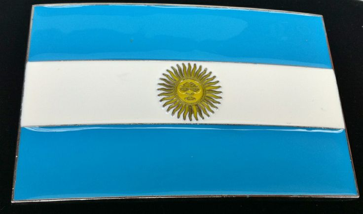 ARGENTINA BUENOS AIRES SOCCER FLAG HEBILLA BELT BUCKLE BOUCLE DE CEINTURE BELTS