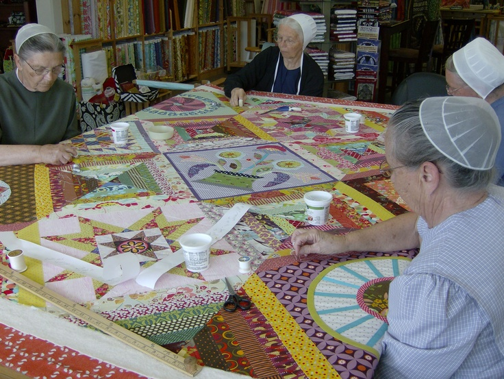 When the weather gets too, too hot, I'll pop in on the neighborhood quilters in Pinecraft and sew a few squares with the girls at Alma Sues  3667 Bahia Vista Street  Sarasota, Florida  34232  (941) 330-0993