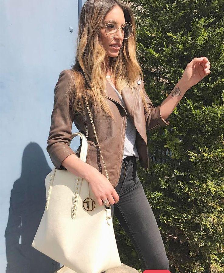 #fashion  #jeans  #leather  Athina Oikonomakou