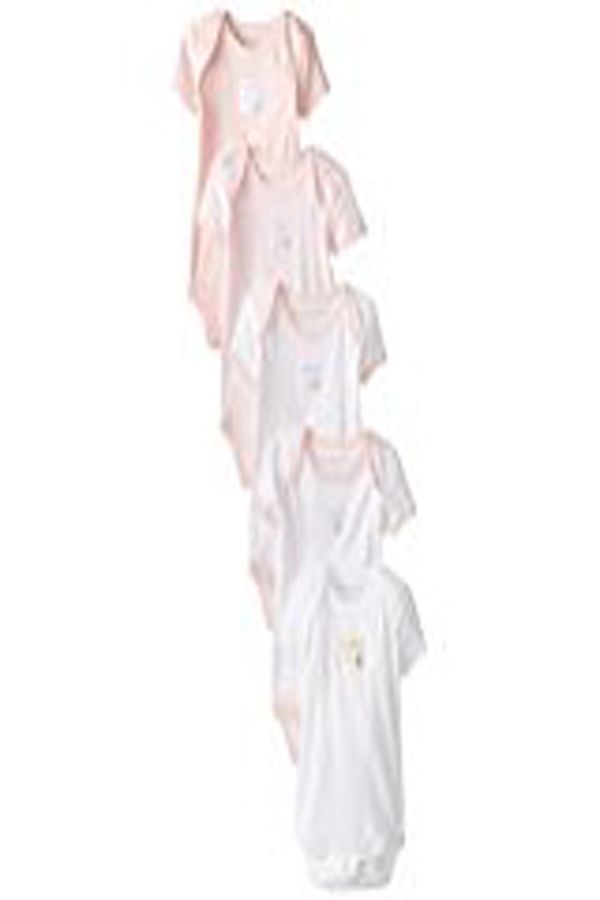 a9d287f36 Burt s Bees Baby Set Of 5 Bee Essentials Short Sleeve Bodysuits