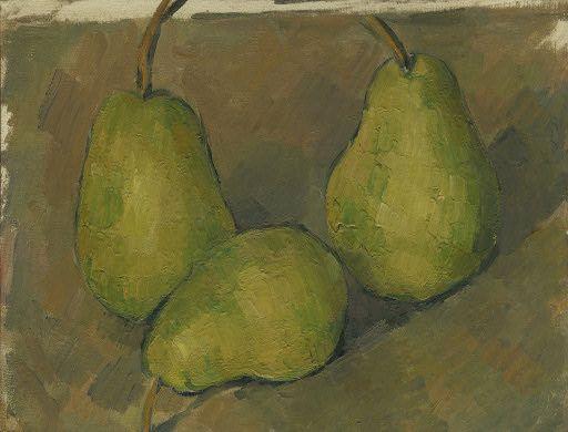 Paul Cézanne (French, 1839-1906), Three Pears, 1879. Oil on canvas, 20 x 26 cm