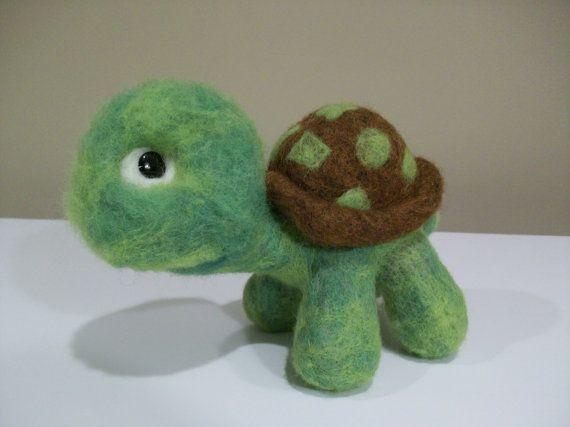 Turtle - Tortoise,   Wool Needle Felted