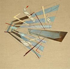 Utopian Paradigm 50x50cm, oil on canvas, 2014 #art #architecture #Daniel #Mullen #design