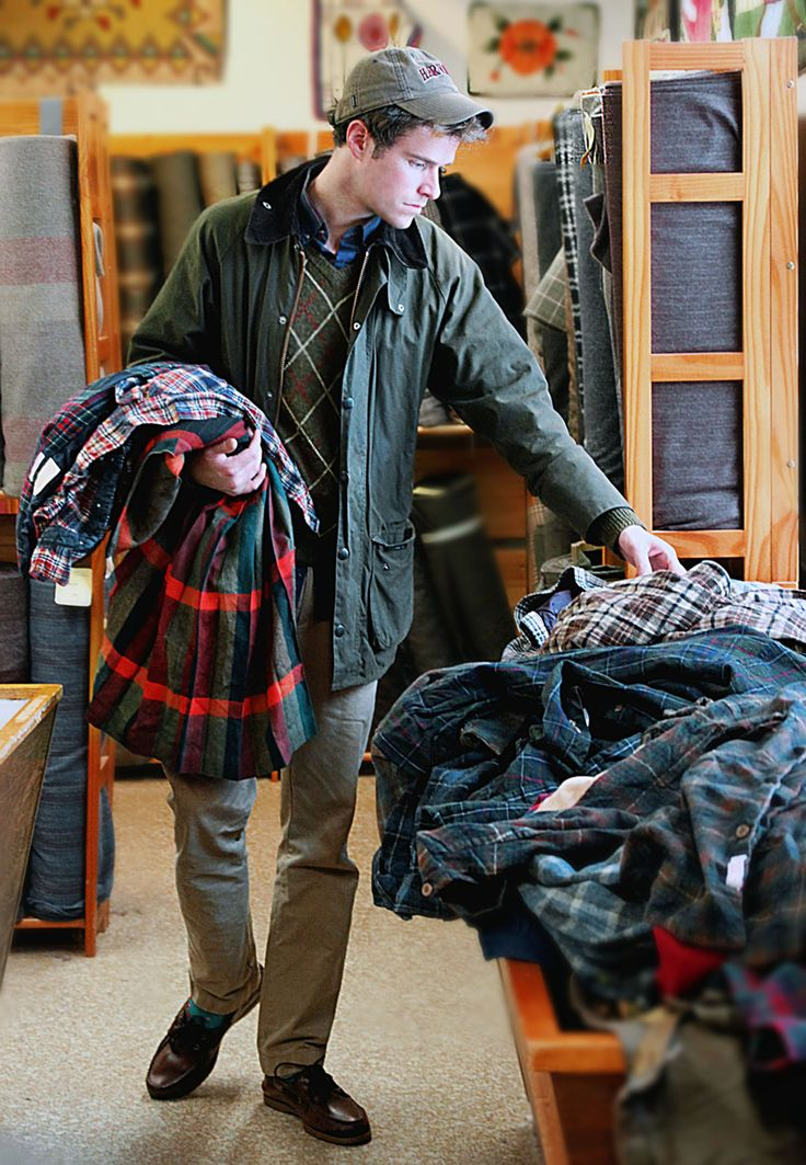 kieljamespatrick:   On slushy days I turn to Kilt shopping for amusement. Barbour Beaufort Jacke