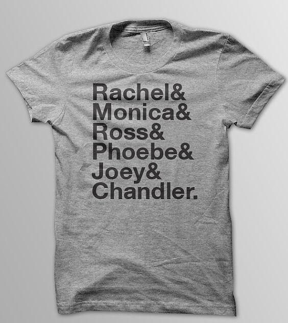 Friend's Cast T-Shirt Shirt Color: Grey Text: Black (Other colors available by request) Sizes Available: S / M / L / XL / 2X Unisex Preshrunk Cotton Tee Other styles and colors available by request. S