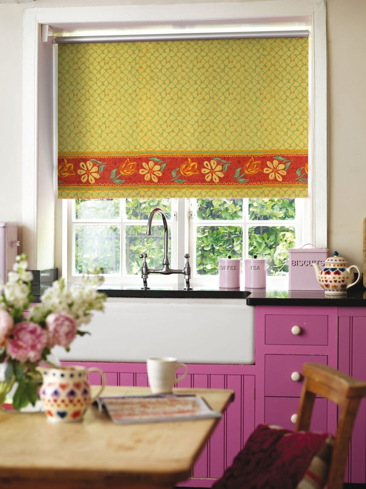 #blinds #floral #kitchen http://www.blindsuk.net/rollermm/amsterdam-terracotta.html