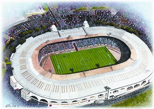 Wembley Stadium(England) @ sportsstadiaart.com