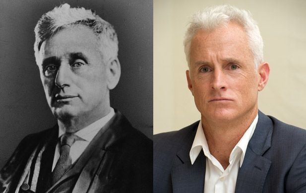 Louis Brandeis - John Slattery (Images of Louis Brandeis and John Slattery provided by Getty Images)