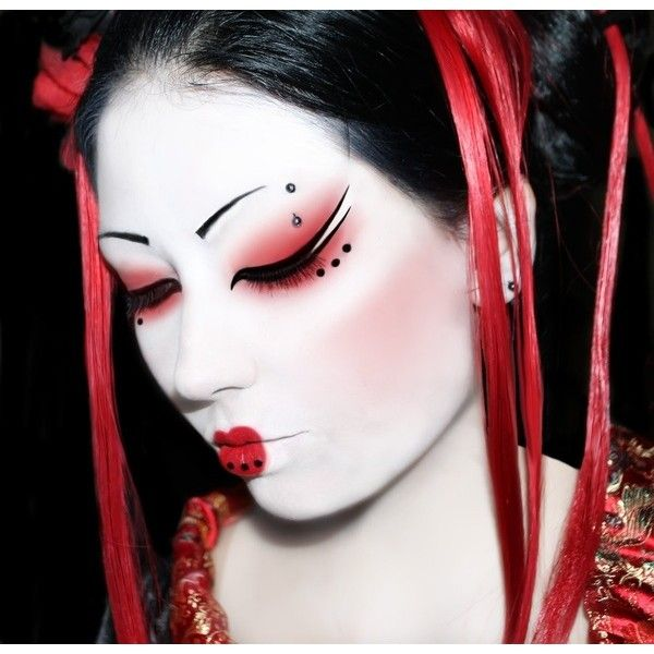 Chinese dancer makeup. Plus I like the draping ribbons from the hair.