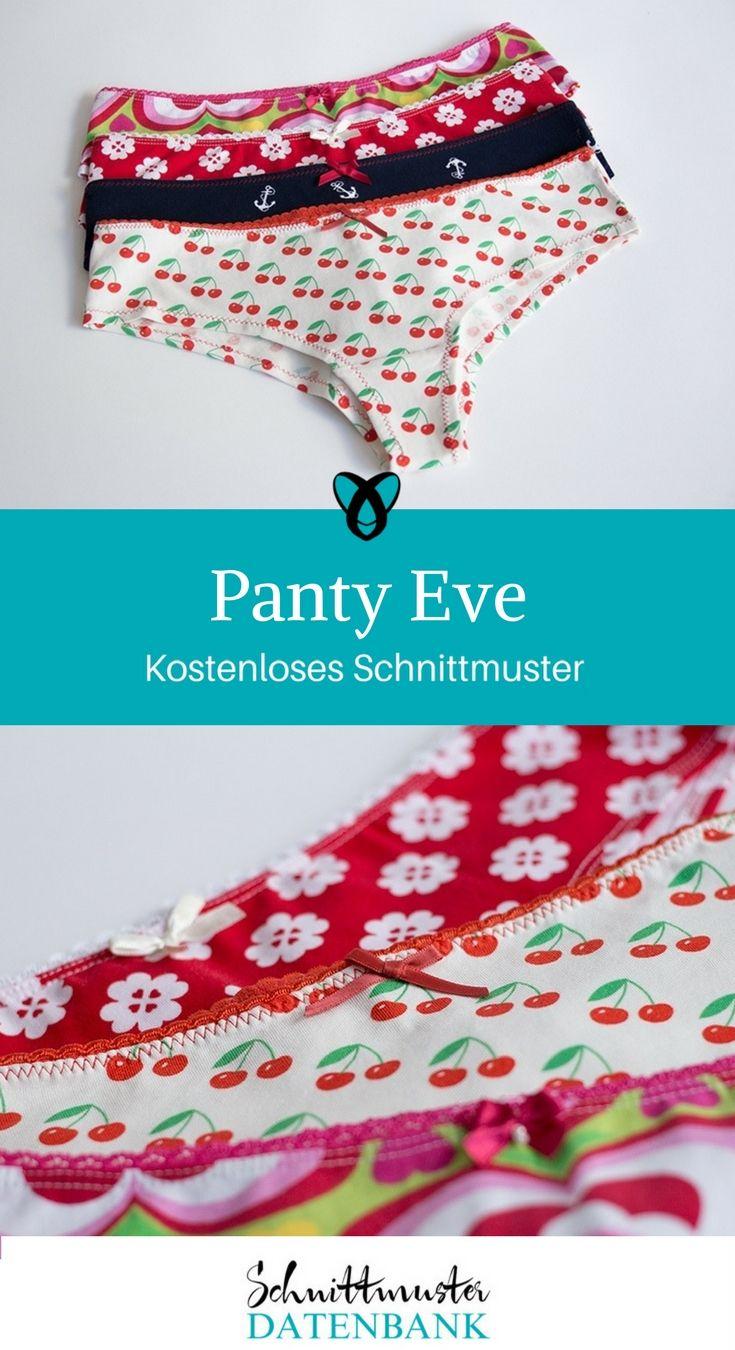 Panty Unterhose Unterwäsche Damen Frauen kostenloses Schnittmuster Gratis-Nähanleitung Underwear