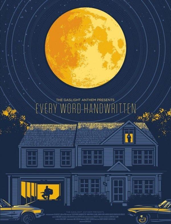 The Gaslight Anthem presents Every Word Handwritten short film poster by El Jefe Design