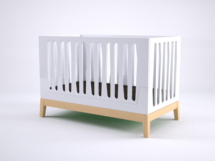 Nubol Convertible Crib - A Unique modern baby crib designed and manufactured in Valencia, Spain. The crib can easily evolve as the child grows from crib-to-toddler-to-twin bed. Made out of eco-MDF and beech solid wood that complies with US and European standards. www.bresole.com/...
