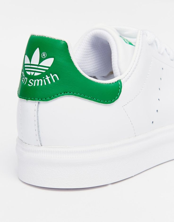 Image 4 of adidas Originals Stan Smith White & Green Trainers