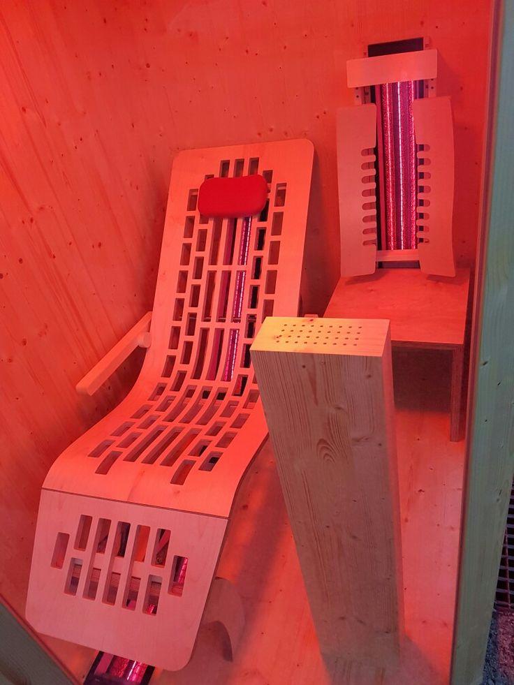 Infrarot-Liegekabine mit ergonomischer Liege und App-Steuerung von Gurtner Wellness GmbH. Infos auf www.gurtner-infrarot.at