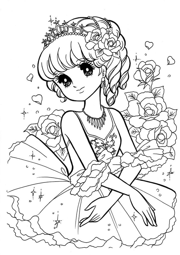 89 best images about Japanese Anime Coloring Page ぬり絵 on ...