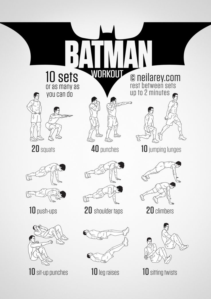 The Original Batman workout. Batcave friendly, need to try this out!