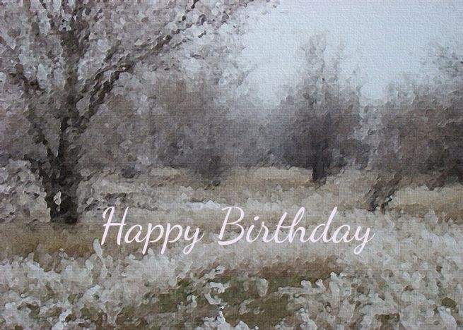 Winter Trees White Frost Birthday Card Nature Landscape Card Ad Affiliate White Frost Winter Winter Trees Birthday Cards Happy Birthday Greeting Card
