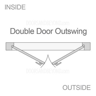Double Doors Swing Direction Outswing