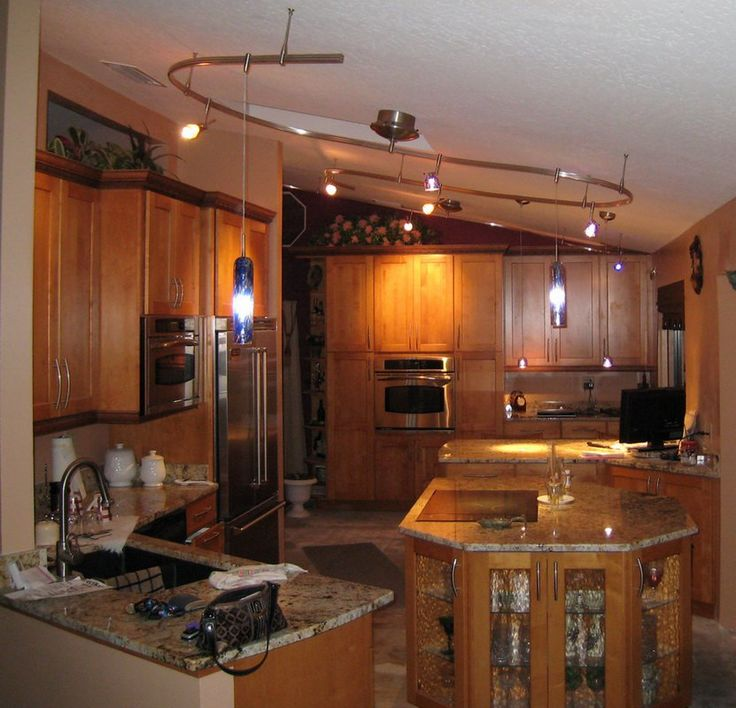 16 functional ideas of track kitchen lighting - Country Kitchen Lighting Ideas