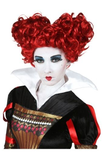 A touch of bad and a touch of red, this Adult Deluxe Red Queen Wig has the look you need to bring your Alice in Wonderland look together.