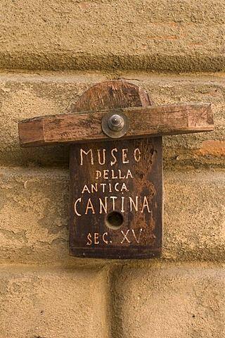 Museo de la Antica Cantina, muestra, Montepulciano, Val d & # 39; Orcia, Siena, Toscana, Italia, Europa