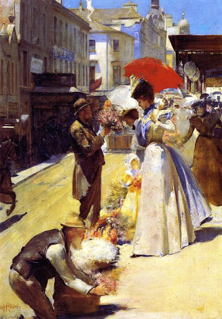 Tom Roberts (Australian painter, 1856-1931) Christmas Flowers and Christmas Belles 1899.