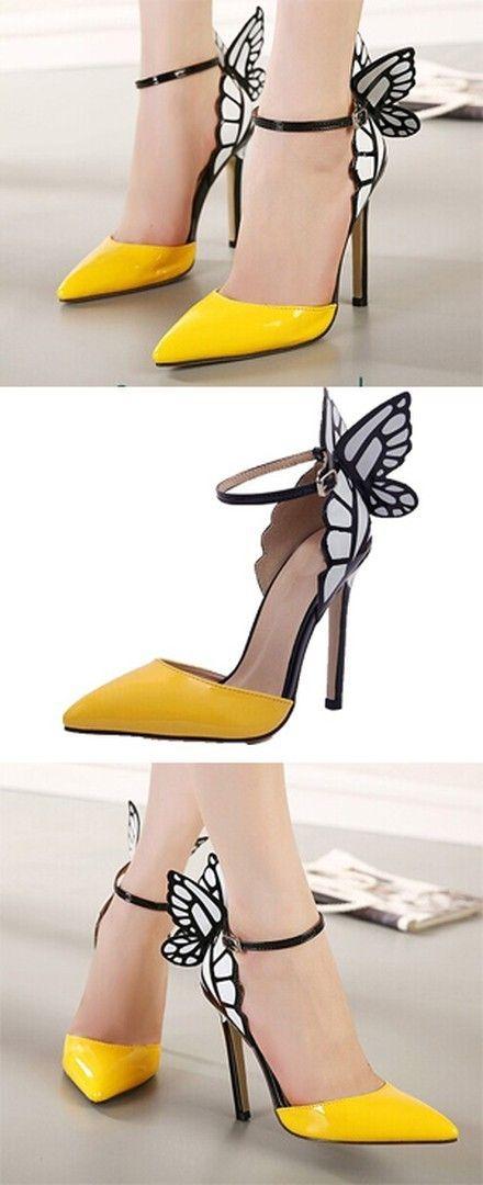 Point Toe Stiletto Heel Butterfly Dress Sandals