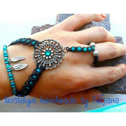 Macrame ring and bracelet https://www.facebook.com/Nostalgie-Handmade-by-Tatjana-425760884176858/