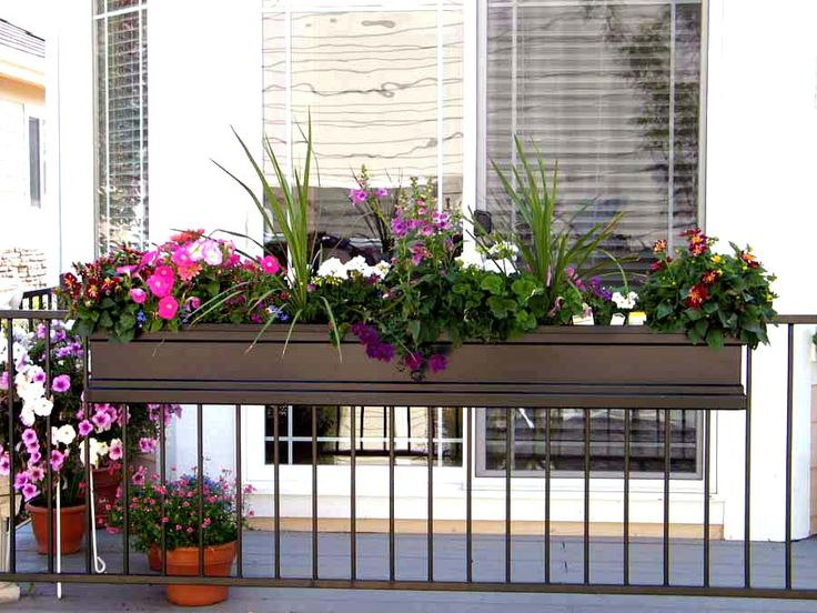 Flower Box Holders for Railings