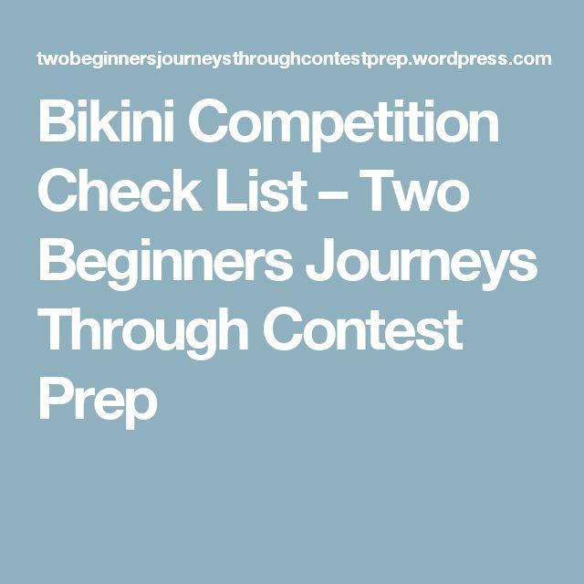 Bikini Competition Check List – Two Beginners Journeys Through Contest Prep