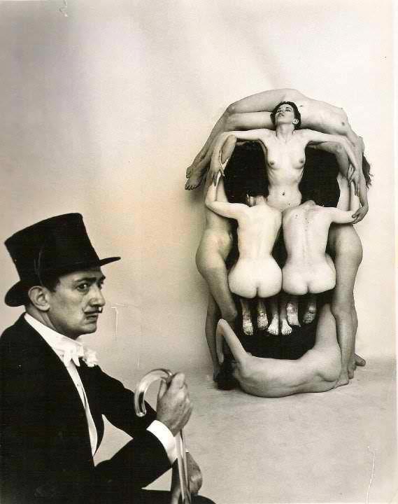"""In Voluptas Mors"", Salvador Dalí portrait by Philippe Halsman, 1951."