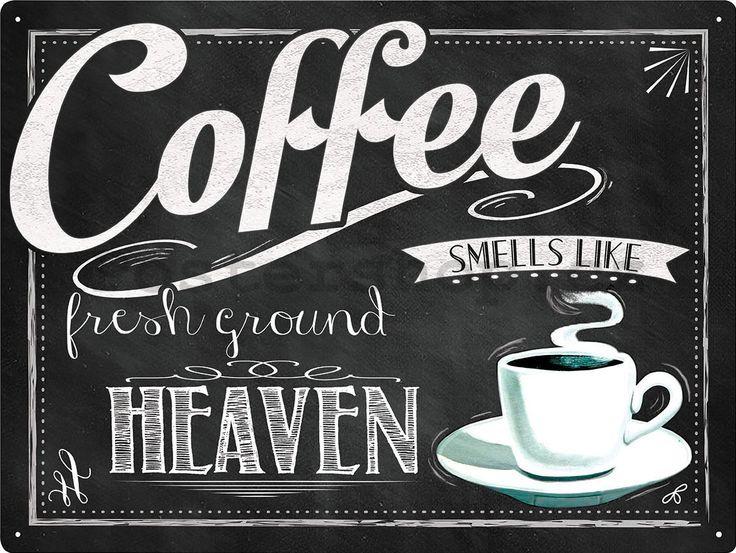 Plechová cedule - Coffee Heaven - Postershop