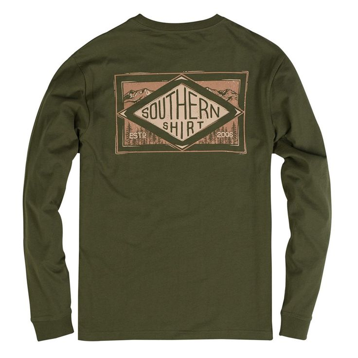Leather Patch Long Sleeve Tee in Cypress by The Southern Shirt Co. #$0-to-$50 #cf-size-l #cf-size-m