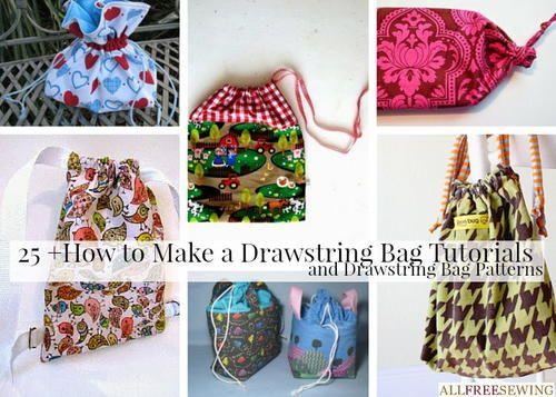 How to Make a Drawstring Bag Tutorials and Drawstring Bag Patterns   AllFreeSewing.com