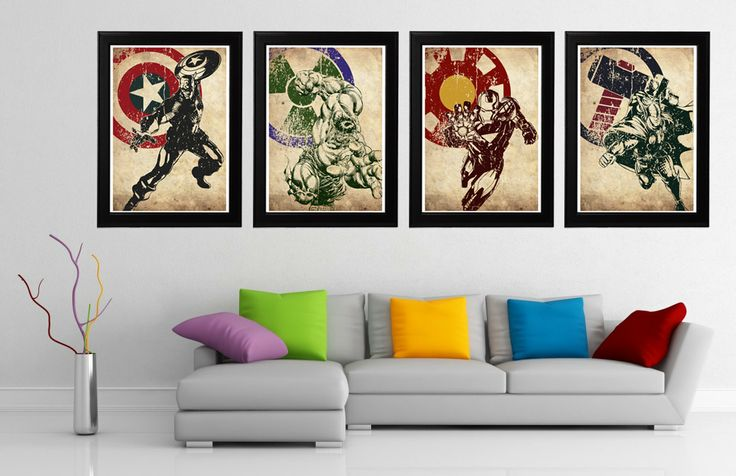 Avengers 4 Minimalist Poster Set Captain America by CultPoster, £28.00