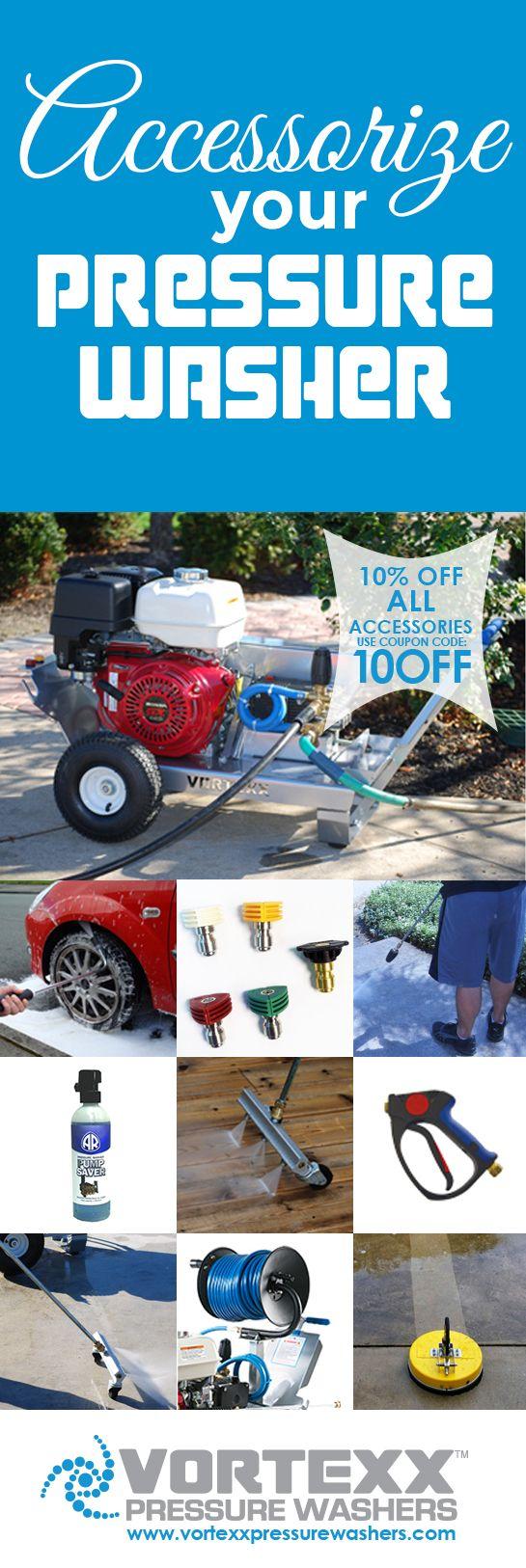 10% off all Pressure Washer Accessories  http://www.vortexpressurewashers.com/ACCESSORIES-c12/