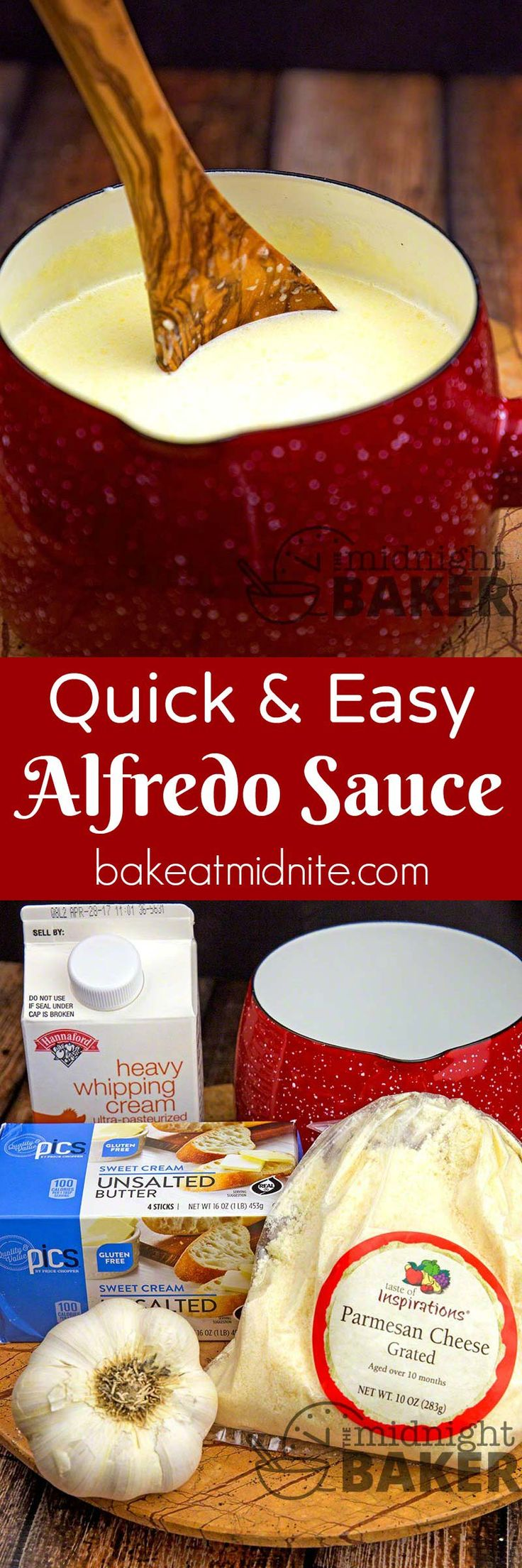 Make your own delicious alfredo sauce super quick!