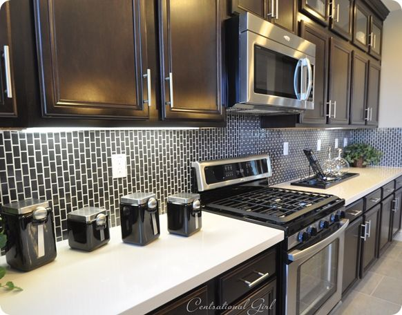 Tile Subway Tiles And Black Cabinets On Pinterest