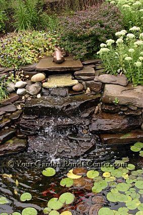 garden ponds and waterfalls | Garden Ponds Home › Waterfall Pictures › Backyard Waterfall ...