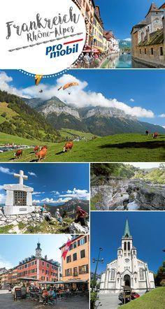 #Glasklare Seen, markante Bergmassive, abgrundtiefe Schluchten und jede Menge Gelegenheiten für einen Adrenalin-Kick. Das alles bietet eine #Wohnmobil-Tour durch die französische Region #Rhône-Alpes. #Camping #Wohnmobil #Reisen #Frankreich