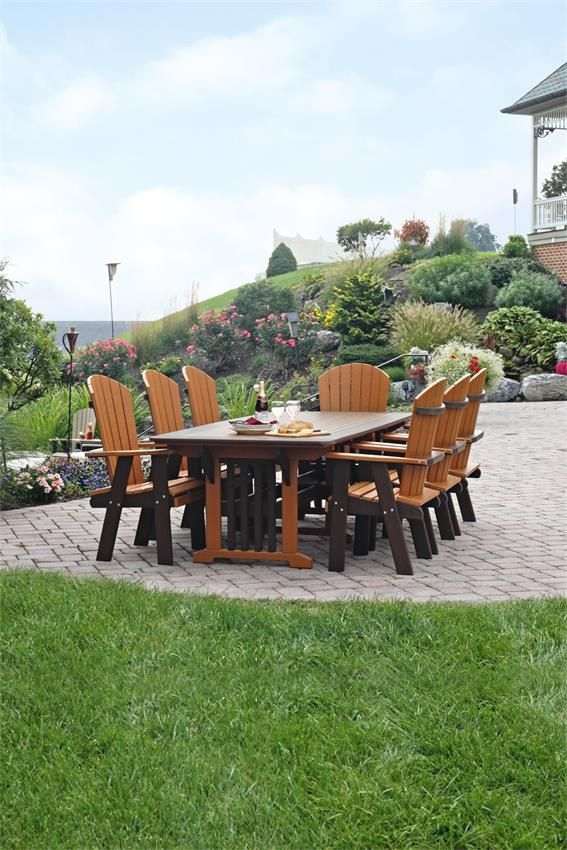 amish outdoor poly mission dining table
