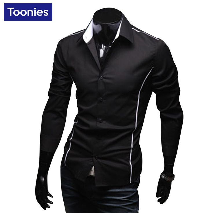 2017 Autumn New Fashion Brand Clothing Men Clothes Slim Fit Men Long Sleeve Shirt Men Casual Men Shirt Social Plus Size 3XL
